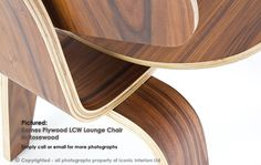 Photograph of Eames Style Plywood LCW Lounge Chair