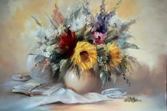Bouquets Painting by Szechenyi Szidonia (9). Read Full article: http://webneel.com/webneel/blog/10-amazing-hand-painting-illusions-ray-massey-and-annie-ralli | more http://webneel.com/paintings . Follow us www.pinterest.com/webneel