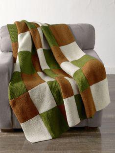 Free Knitting Pattern 90209AD Morris Park Blanket : Lion Brand Yarn Company