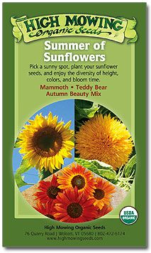 Summer of Sunflowers Organic Seed Collection #highmowingseeds