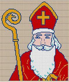 Saint Nicolas - free cross stitch graph (it's in French)