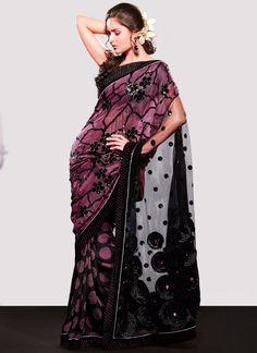 Bewitching Black Saree