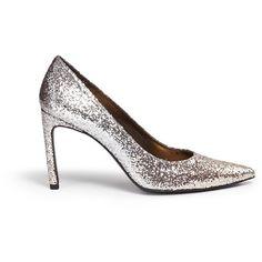 Stuart Weitzman 'Heist' dégradé glitter pumps (8.135.300 VND) ❤ liked on Polyvore featuring shoes, pumps, metallic, bright shoes, summer pumps, shiny shoes, stuart weitzman shoes and stuart weitzman