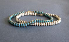 bracelet set beaded superduo best friend bracelet turquoise See other ideas and pictures from the category menu…. Turquoise Jewelry, Boho Jewelry, Turquoise Bracelet, Beaded Jewelry, Jewelry Design, Super Duo, Box Braids Styling, Friend Bracelets, Braided Bracelets