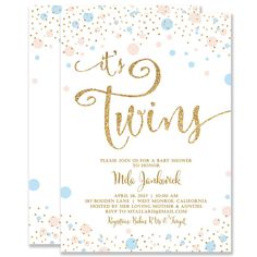 Boy girl twins baby shower invitation tutus and ties baby shower mila twins boy girl gender neutral baby shower invitation filmwisefo
