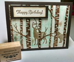 Not perfect but I like it. Used the new woodland embossing folder. Get yours today ! Www.girlshavingfun.stampinup.net