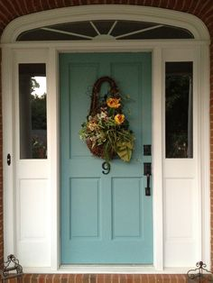 The beautiful blending of two loves...Provence and Duck Egg ASCP on my own front door!