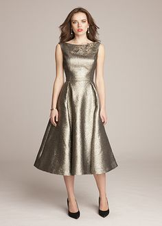 Fall Mother Of The Bride Dresses Tea Length