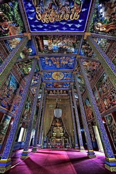 Very trippy Buddhist temple located in fishing village on outskirts of Phnom Penh, Cambodia.