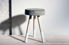 diy hocker beton
