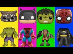 Wrong Heads For Kids Pop Heroes Figures #2 Spiderman Batman Family Song Nursery Rhymes Kids Hangout - YouTube
