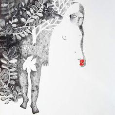 Era l'Eden, la mia illustrazione pubblicata sul catalogo Tapirulan 2014. Chiara Critini