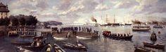 Carl Saltzmann - Empfang des Prinzen Heinrich von Preußen durch Kronprinz Friedrich am 13. März 1884 im Kieler Hafen
