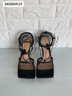 Bottega Veneta bv Woman sandals mesh black Flats, Sandals, Bottega Veneta, Mesh, Lace Up, Woman, Shoes, Fashion, Loafers & Slip Ons