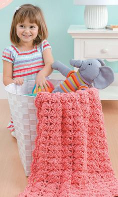 NEW LA75467 Blankets For Toddlers - Fun Time Each of the 12 designs in Blankets for Toddlers is rated Beginner or Easy skill level and uses a simple one-row pattern repeat. The instructions also give you a choice of using one or two strands of medium weight yarn, so you can make a lightweight blanket or a heavier one.  http://www.maggiescrochet.com/products/blankets-for-toddlers