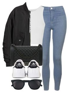 """#14006"" by vany-alvarado ❤ liked on Polyvore featuring Topshop, Glamorous, H&M, Chanel, Yves Saint Laurent and adidas"