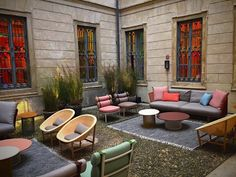KETTAL | News | Elle Decor Grand Hotel Patricia Urquiola, Outdoor Seating, Outdoor Spaces, Outdoor Decor, Luxury Furniture, Outdoor Furniture Sets, Elle Decor, Lighting Store, Grand Hotel