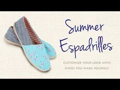 Espadrilles DIY: Make These From Scratch! - YouTube