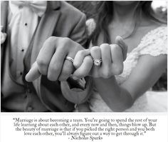 Marriage. Love the photo and the quote