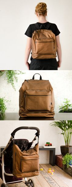 An urban and minimalistic unisex bag, functional for every-day use. This diaper backpack has room for everything we believe is important to have when