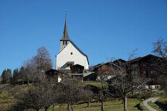 Schweiz  Wallis Goms Ernen Herbst