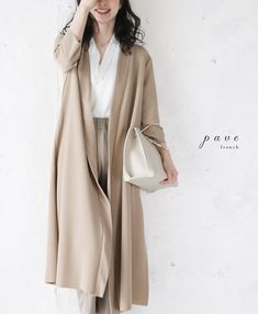 。【再入荷♪5月23日12時&22時より】(ベージュ)「pave」ベーシックカラーの羽織り Duster Coat, My Style, Jackets, Fashion, Down Jackets, Moda, Fashion Styles, Fashion Illustrations, Jacket