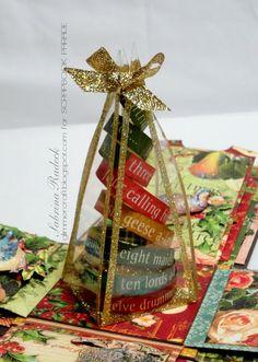 Aspiring to Creativity: Twelve Days of Christmas Explosion Box
