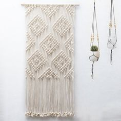 Large Macrame Wall Hanging / Home Decor  / Wall Art / Christmas gift (for her) / Geometric Wall Tapestry / Aztec Macrame Tapestry