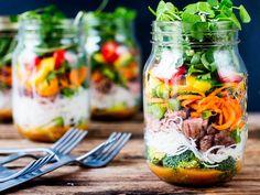 Une salade jar pour mes déjeuners au bureau