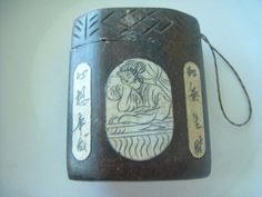 Chinese Teak Wooden Hand Carved Engraved Bone Carrying Case Painted | shangrilacraft - Home Decor on ArtFire