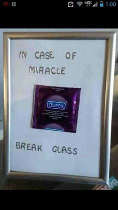 Found this hysterical!! Will have to be a gag gift for a guy friend at some point.