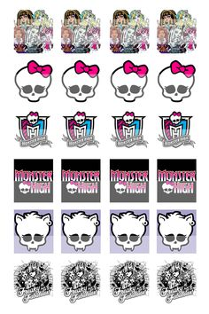 monster high free printables   Monster High Freaky Just Got Fabulous 0.75 Inch x 0.83 Inch Square ...
