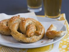 Mustard Soft Pretzels - Soft pretzels are one of the most ideal game-day snacks. They're finger-friendly, slightly savory, salty, and extra bready to soak up all that beer. Making them at home looks complicated, but it's not much more difficult than making any other yeast bread.