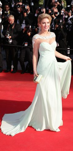 #cannes14 #cannesfilmfestival14 Strapless Dress Formal, Formal Dresses, Wedding Dresses, Cannes Film Festival 2014, Celebrity Red Carpet, One Shoulder Wedding Dress, Drama, Celebrities, Fashion