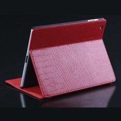 Koolertron Crocodile Pattern Genuine Leather Housing Faceplate Case for Apple Ipad 2 Ipad 3 Red