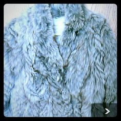 Sculpted gray dyed silver fox coat size m Ladies sculpted gray dyed silver Fox fur stroller. One of kind. . Beautifully lined in shiniest pewter. Will fit small M Jackets & Coats Pea Coats