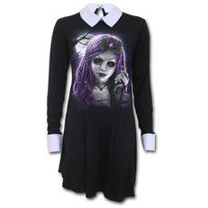 Dámske šaty s golierom Goth doll Gothic Dolls, Living Dolls, Great T Shirts, Babydoll Dress, Collar Dress, Baby Dolls, Graphic Sweatshirt, Punk, Casual