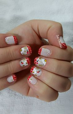 Unhas francesinhas para inspirar, veja mais de 35 modelos no site diseños d Toe Nail Art, Acrylic Nails, Summer Toe Nails, Short Nails Art, Pedicure, Nail Art Designs, Hair Beauty, Nail Polish, Fancy