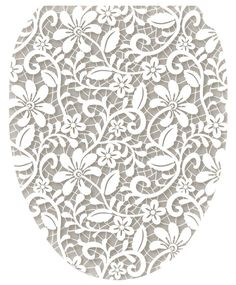 Found it at Wayfair - Lovely Lace Toilet Seat Decal Thin Tattoo, Lace Tattoo, Grey Toilet Seats, Lace Stencil, Self Love Tattoo, Dog Toilet, Tattoo Themes, Toilet Accessories, Single Rose