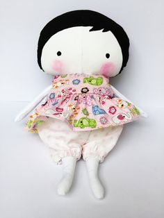 Rag Doll - Soft Sculpture Doll - Fabric Doll - Miss Muffet Dolls - Baby Cloth Doll - Christmas Gift - Baby Shower