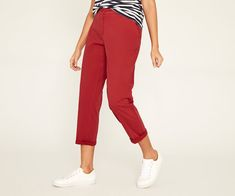 Oasis, CHINO TROUSERS Mid Red 1
