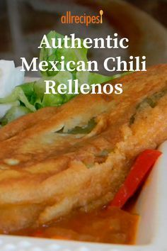 Authentic Mexican Recipes, Mexican Food Recipes, Mexican Appetizers, Stuffed Chili Relleno Recipe, Chili Relleno Casserole, Recipe For Chili Rellenos, Mexican Chile Relleno Recipe, Chicken Relleno Recipe, Chili Relleno Recipe Authentic