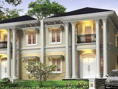 desain rumah mewah gaya mediterania konsep rumah modern