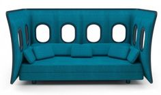 Original Sofa Design Inspired by the Panel of an Airplane