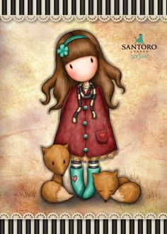 ✔️ By Suzanne Woolcott . Little Doll, Little Girls, Love Pink Wallpaper, Santoro London, Angel Drawing, 3d Model Character, Boy Illustration, Cute Cartoon Girl, Cute Cartoon Wallpapers