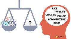 Grafisk bilde med vekting av sosiale medier og med Idium logo Diagram, Chart, Blog, Pictures, Blogging