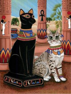 Temple of Bastet Egyptian Cat Goddess Bast Postcard