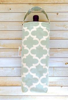 Wine Tote Bag Wine Carrier Wine Gift Bag by LittleMissPoBean
