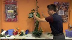"B80 ""The Dancing Birds""- Flower Arrangement by Gordon Lee"