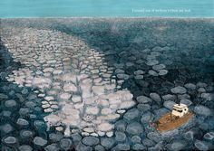 Spread from 'Ahab y la Ballena Blanca / Ahab and the White Whale' by Manuel Marsol